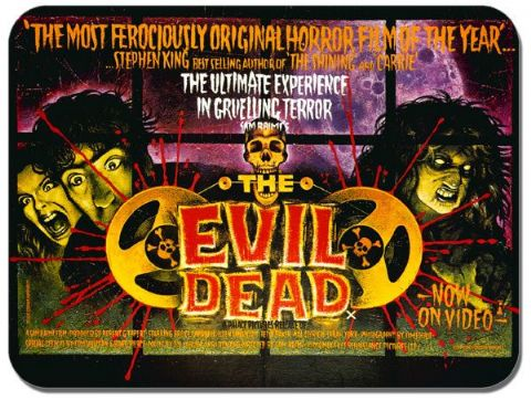 The Evil Dead Vintage Film Poster Mouse Mat. Classic Horror Movie Mouse Pad Gift